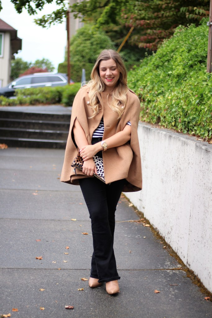 chic fall layers - wool cape for fall - easy fall outfits to copy