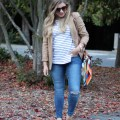 old navy rockstar jeans - weekend casual - easy fall outfit - preppy fall outfit