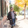 the stockplace - colorful winter coats - stuart weitzman lowland - easy fall outfit