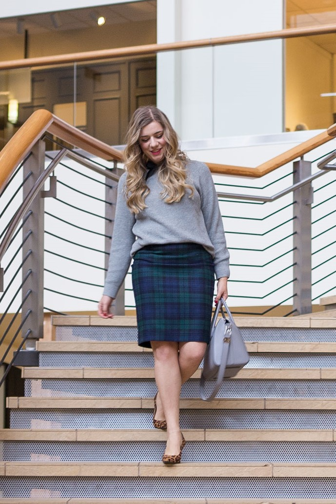 27607688e77 plaid pencil skirt - how to wear plaid to work - winter work outfit -  plaid. Hey babes!