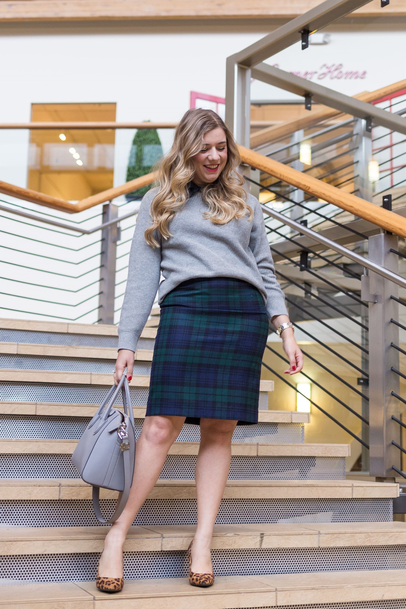 78f85cc112 plaid pencil skirt - how to wear plaid to work - winter work outfit - plaid