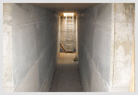 Hallway In A Bomb Shelter to Blast Hatch Exit
