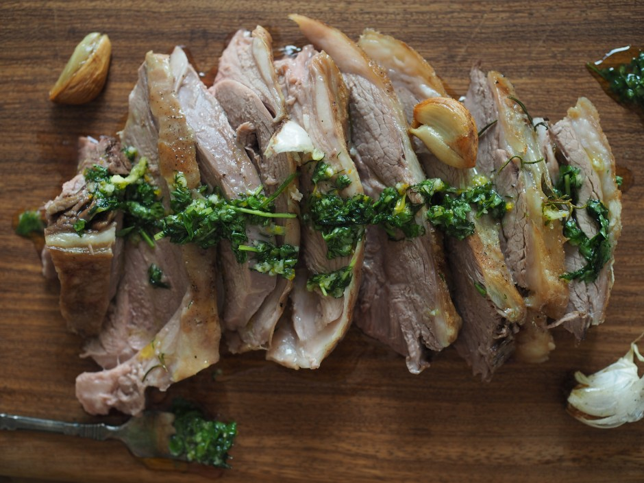 Lamb leg with Dill & Orange Sauce