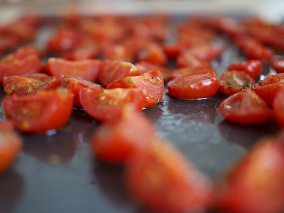 Lompe with Carmelized Onions and Roasted Tomatoes