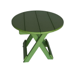 Round Folding Side Table Quality Poly Outdoor Furniture