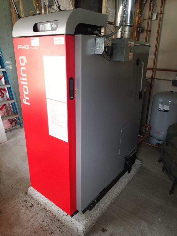 The new wood gasification boiler.