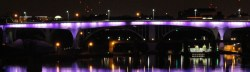 35W Bridge Shows off its Stripes