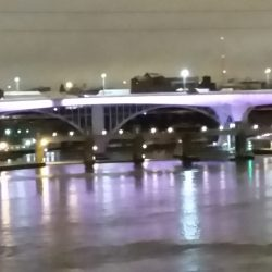35W Bridge Shows off its Stripes in Support of NET Cancer Day!