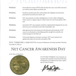 NET Cancer Day in Minnesota - 2016