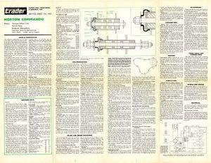 thumbnail of N°143-Motorcycle Trader service sheet Norton Commando-2