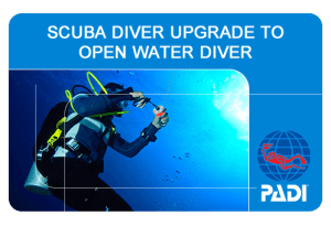 Scuba Diver Upgrade to Open Water Diver