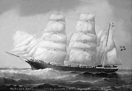 Picture of the emigrant ship Beta