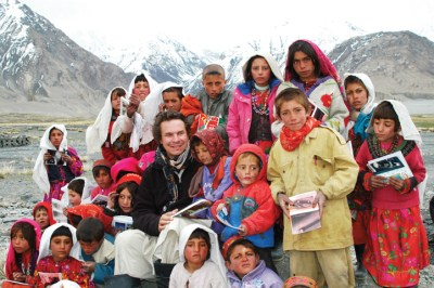 Mortensen (center) is the co-founder of the non-profit Central Asia Institute (CAI), whose mission is to encourage and support community-based education, especially for girls, in war-torn and remote regions of Pakistan and Afghanistan.