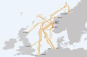 The Norwegian gas pipeline grid. Photo: BarentsObserver.com