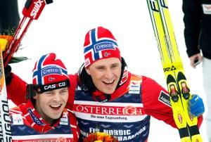 Johan Kjølstad (left) won, while Ola Vigen Hattestad won the B-finale. Photo: www.skiforbundet.no.