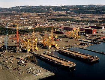 Aker Solutions yard in Verdal is a specialised jacket yard with Europe's most modern facility.