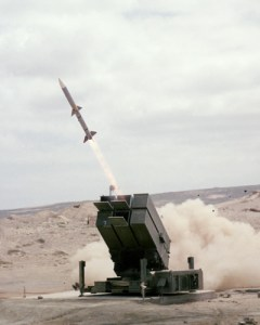 The Norwegian Advanced SAM System (NASAMS). The NASAMS launcher has six ready to fire AMRAAM missiles.