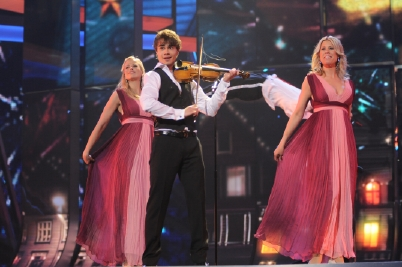 """Alexander Rybak from Norway had his second rehearsal and press conference on May 8. It was called a """"secure performance"""". Photo: Alan Douit (EBU)"""