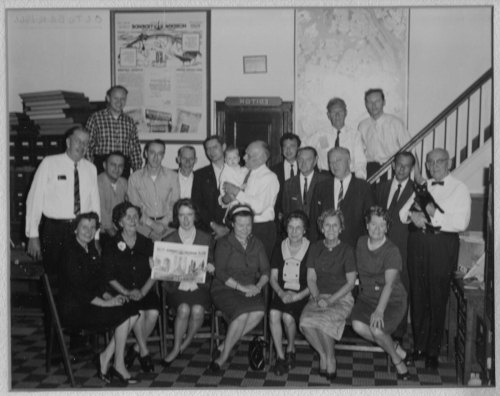 The staff of Nordisk Tidene gathers for a photo in Brooklyn, N.Y. for the newspaper's 75th anniversary in 1966.
