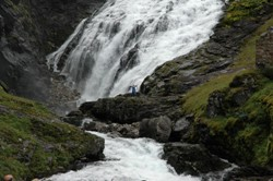 The waterfall Kjosfossen at the Flåm line. Photo: Njål Svingheim