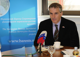 Jonas Gahr Støre at the Norwegian Barents Secretariat. Photo: Jonas Karlsbakk