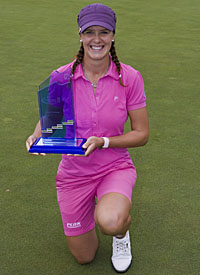 Norway's Marianne Skarpnord, winner of the Deutsche Bank Ladies Swiss Ope