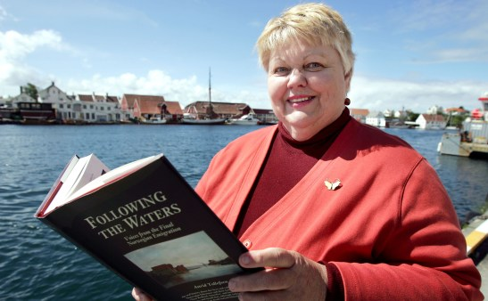 Author Astrid Tollefsen will present a talk about her book Following the Waters: Voices from the Final Norwegian Emigration.