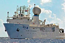 The NOAA vessel Okeanos Explorer.
