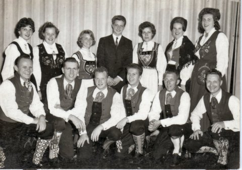Sons of Norway folk dancers from the late 1950s – early 1960s.