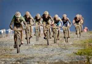 Muddy conditions in the 2009 race.