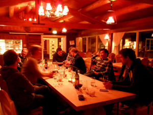 After hours at  Løvlia - top notch food and wine. (Photo: JES)