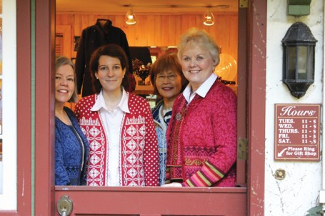 The women of Chalet in the Woods. From left: Laura Almaas (owner), Helen de la Torre, Fumiko Tamaru and Paulette Anderson. Photo: Christy Olsen Field