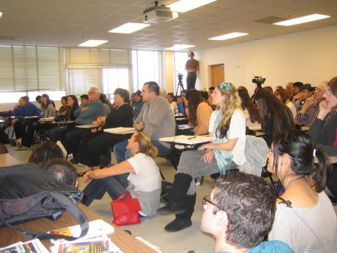 The attentive audience at Dr. Jody Myers' class at California State University, Northridge. Dr. Jody Myers' class on Nov. 16. Photo: Karin Arentzen Stahl