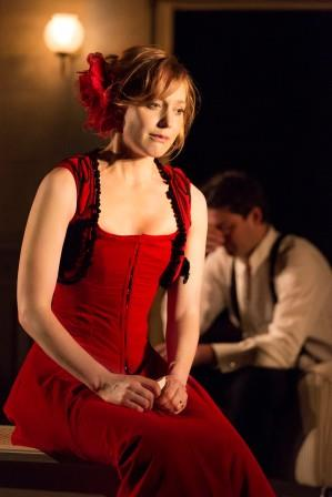 "Photo: Johan Persson Hattie Morahan as Ibsen's beleaguered housewife in the Young Vic's production of ""A Doll's House."""