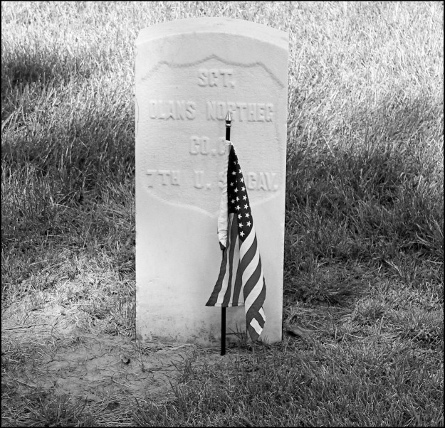 Photo: Scott Nelson Hansen's gravestone is found at the Old Post Cemetery at Fort Meade, S.D.
