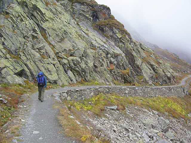 Photo courtesy of Øystein Rivrud  Nils Rivrud explores the Roman road.