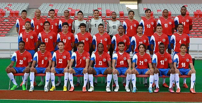 Photo: 9worldcup.com  Costa Rica's 2014 World Cup team includes nine men who have played or currently play in Tippeligaen.