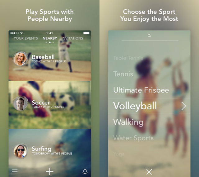"Photo: iTunes app store Screenshots from the app. ""Sporty"" is currently only available for iPhone."