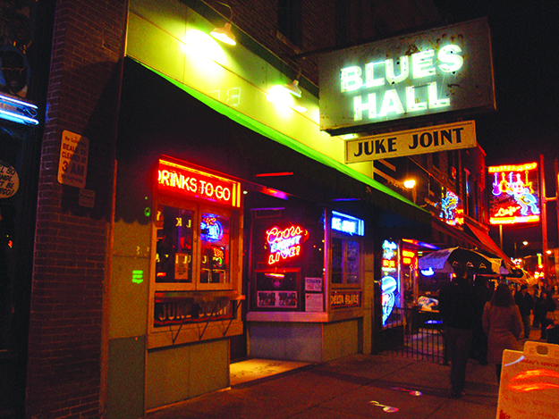 Photo: Mario G. Flores Beale Street, a hub of activity day and night.