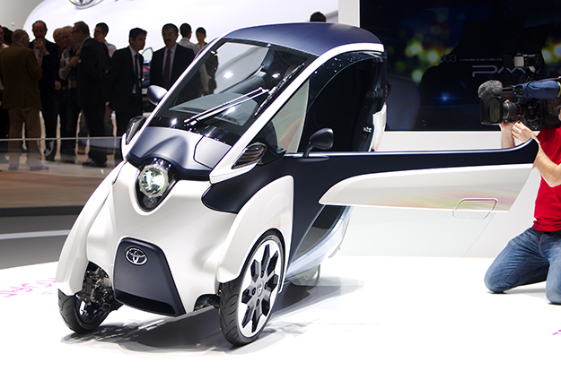Photo: Clément Bucco-Lechat / Wikimedia Commons Toyota's i-ROAD on display at Geneva MotorShow 2013.
