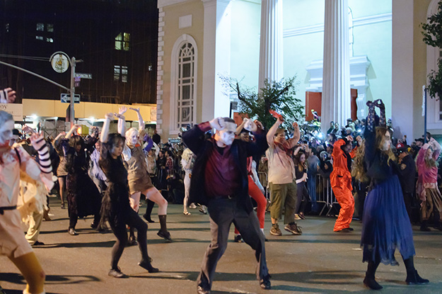 Photo: Wikimedia Commons Creatures of all varieties celebrate the spooky holiday, dancing the night away in the New York City Halloween Parade.