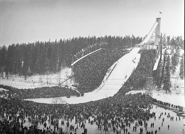 Photo: Library of Congress Holmenkollen two weeks after the 1952 Olympics.