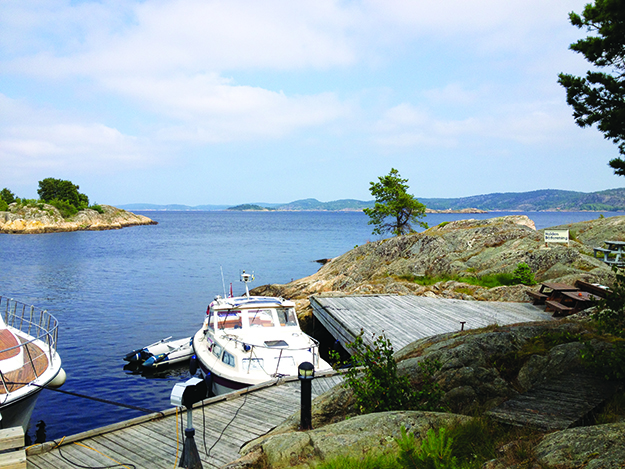 Photo: Molly Jones Just a typical Norwegian lunch spot on one of Halden's many picnic-friendly islands.