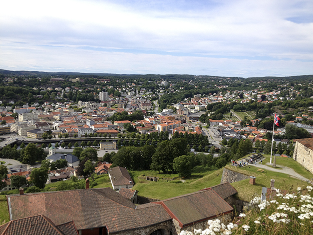 Photo: Molly Jones The view looking down into Halden from Fredriksten Fortress.