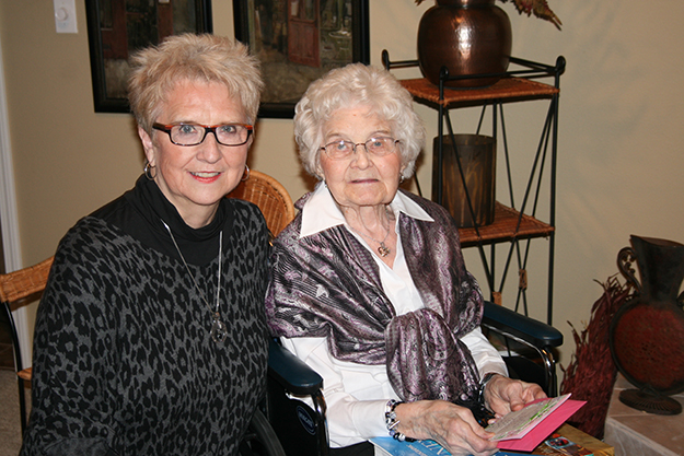Photo: Lars Wanberg Alice Rustan, at her 101st birthday celebration with family and friends, recounts her early days as one of 11 children raised on a family homestead in rural North Dakota near Park River. Her daughter, Char Rustan Brekke, a partner in Brekke Tours to Scandinavia, hosted the party. Alice recalled how family life on the prairies one hundred years ago was closely knit in work and fun times, and maintained a strong connection to the ancestral culture in Norway.