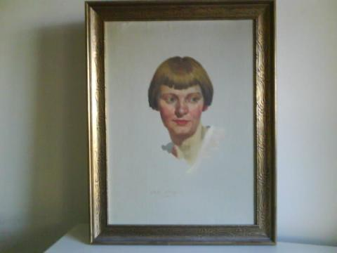 """Photo courtesy of Mary Jo Thorsheim  """"Elsebeth with Bobbed Hair 1932,"""" by David Ject-Key."""