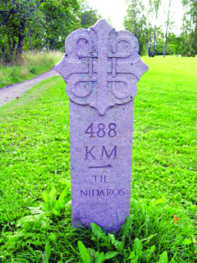 Photo: Wikimedia Commons A marker along the route. Only 488 km to go!