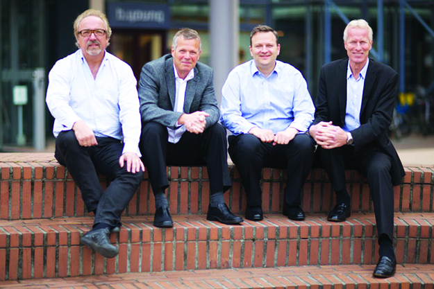 Photo courtesy of Alliance Venture  Some of Alliance Venture's partners, from left to right: Erling Maartmann-Moe, Bjørn Christensen, Arne Tonning, and Jan-Erik Hareid.