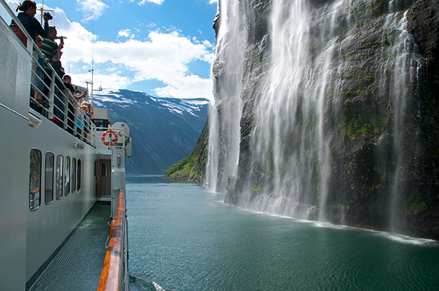 Photo: Øyvind Heen / Visitnorway.com  Norled's sightseeing tours—or even their regular ferry routes—let you explore the watery side of Norway.