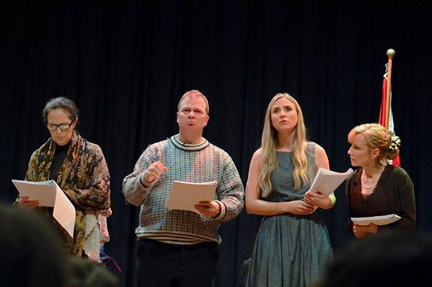 Photo: Jennifer Einarsen Locke From right to left:  Lorraine Montez, Tabitha Bastien, Åge Johnny Nabben Olsen, Marie Verschueren.